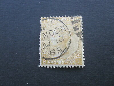 £0.99 • Buy GB STAMP - QUEEN VICTORIA - SG111  9d PALE STRAW - PLATE 4 - USED - (J179)