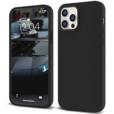 AU6.99 • Buy Black Soft Silicone Case Cover For Apple IPhone 12 11 Pro XS MAX X XR 6 7 8 Plus