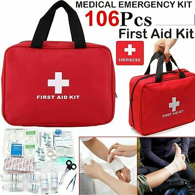 £10.99 • Buy 106 Piece First Aid Kit Medical Emergency Travel Home Car Taxi Work 1st Aid Bag