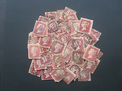 £17 • Buy Gb Stamps - Queen Victoria - Accumulation Of (50+) Penny Red - Plates (r117)