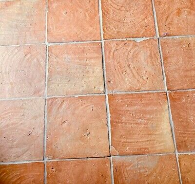 £25 • Buy Rustic Red Unsealed Terracotta Tiles 30 X 30 + 6 Boxes Of 5 + Some Cut Tiles