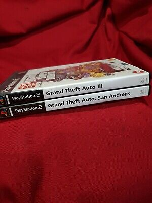 £0.99 • Buy Grand Theft Auto 3 & Grand Theft Auto San Andreas - PS2 - Tested