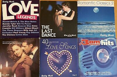£2.99 • Buy 6 X Daily Mail Love / Romantic Songs Promo CD's - 105 Tracks In Total