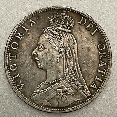 £1.20 • Buy 1887 Queen Victoria Jubilee Head Florin ~ Silver Plated Coin