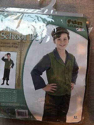£10 • Buy VICTORIAN SCHOOL BOY COSTUME, SIZE XL 10-12 YEARS. Book Day