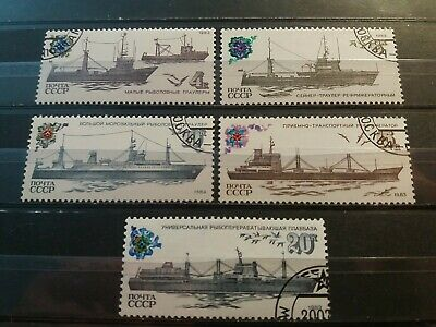 £1 • Buy Russia CCCP Stamps 1983 Fishing Vessels. Complete Set