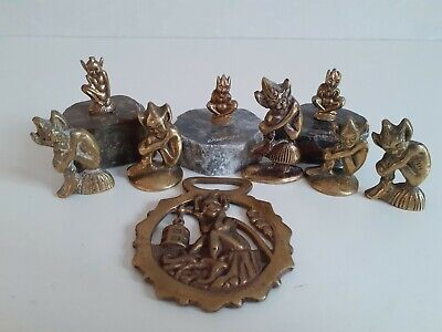 £30 • Buy Collection Of Brass Cornish Pixie Ornaments