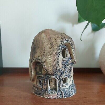 £10 • Buy Vintage Fairy House Tealight Candle Holder Studio Pottery