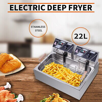 £85.65 • Buy 22L Commercial Electric Deep Fat Chip Fryer Basket Stainless Steel Countertop