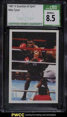£36.22 • Buy 1987 A Question Of Sport UK Mike Tyson ROOKIE RC CSG 8.5 NM-MT+
