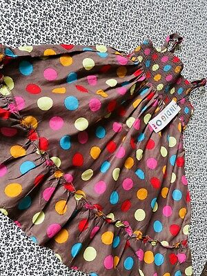 £2.20 • Buy M&S Retro Girls Brown Spot Summer Dress Age 18-24M BNWT Perfect For Summer Hols