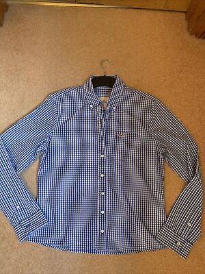 £1.20 • Buy Hollister Check Shirt, Picnic Check, Gingham, Blue, White. Size L. Casual Cotton
