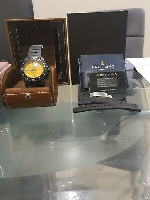 £1200 • Buy Breitling Superocean 11 Automatic 46 Yellow Dial 2020 With Papers, Original Box.