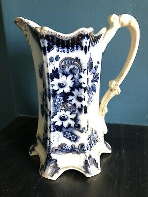 £4 • Buy Antique Jug With Makers Marking 1025. Blue & White