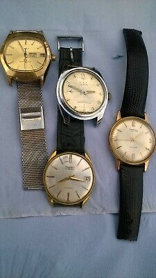 $ CDN1.70 • Buy Job Lot Mens Vintage Hand Wind Mechanical Watches - Spares Or Repairs, W/ Issues