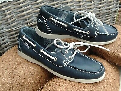 £17 • Buy Moshulu Navy Blue Leather Deck Sailing Boat Shoes Size 4 Eur 37 Excellent Cond