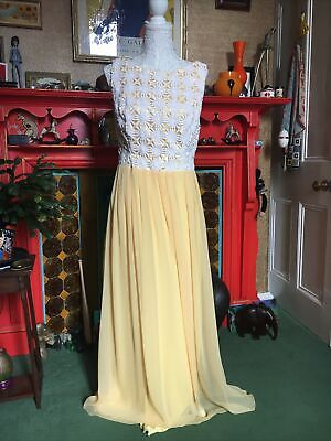 £1 • Buy Buttercup Yellow Prom Maxi Dress Bridesmaid Size 14