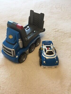 £0.99 • Buy Mega Bloks Blue Police Car Transporter And Police Car, Very Good Condition