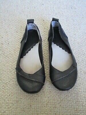 £34.99 • Buy Hush Puppies Janessa Black Leather Pumps/ballet/flat Shoes Size 7 Wide Fit