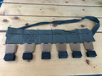 $15 • Buy M1 Garand Bandolier With 6 Clips And Cardboard