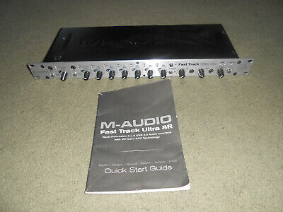 $139.99 • Buy M-Audio Fast Track Ultra 8R Digital Recording Interface With Quick Start Guide