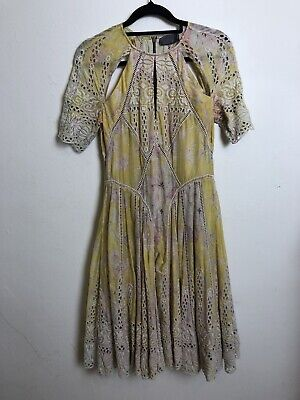 AU149 • Buy Zimmermann Size 0 Embroidered Floral Dress