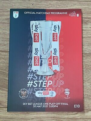 £7 • Buy Blackpool FC Vs Lincoln City FC League One Play-off Final Matchday Programme