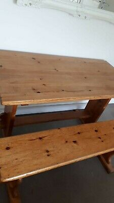 £100 • Buy Wooden Table And 2 Benches Good Condition...for Kitchen,dining Or Even Outside