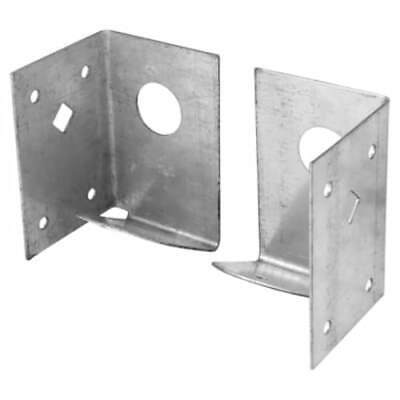 £5.99 • Buy Pair Of Arris Rail Fence Support Bracket Panel Post Wood Timber Fencing Garden