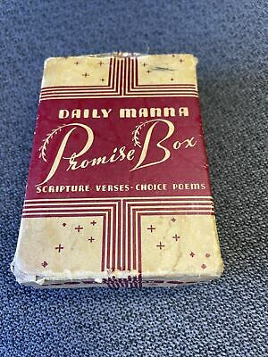 £10.07 • Buy 1940's Zondervan Daily Manna Promise Box Scripture Verses Choice Poems Cards