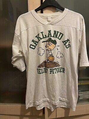 £39.99 • Buy Vintage Charlie Brown Oakland As T-Shirt Size Small/medium