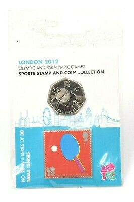 £0.99 • Buy 2012 London Olympic + Paralympic Games Table Tennis Coin And Stamp Pack AUCTION