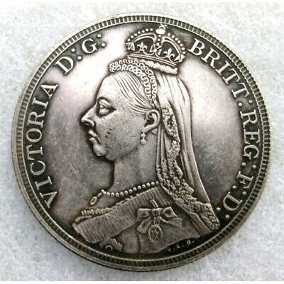 £5.50 • Buy 1887 Queen Victoria Jubilee Head Crown ~ Silver Plated Coin