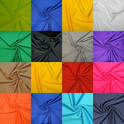 £1.29 • Buy Dancewear Compatible Lycra Fabric 4 Way Stretch Spandex Material 14 Colours