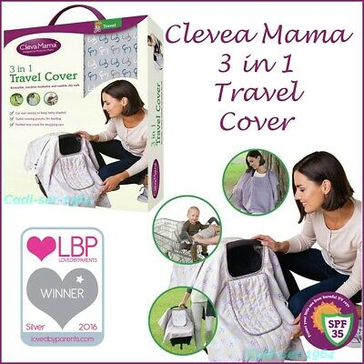 £19.98 • Buy ClevaMama 3 In 1 Travel Cover Breastfeeding Poncho Padded Shopping Trolley Seat