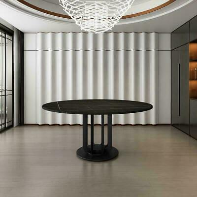 £249.99 • Buy Selena Round Marble Luxury Dining Table Set And 6 Upholstered Dining Chairs