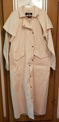 $100 • Buy VTG CANVAS Western Duster By Express Rider Western Wear Size L Snap Front/Back