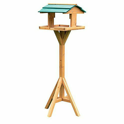 £16.49 • Buy Traditional Bird House Table Free Standing Wooden Feeding Station BF009 KINGFISH