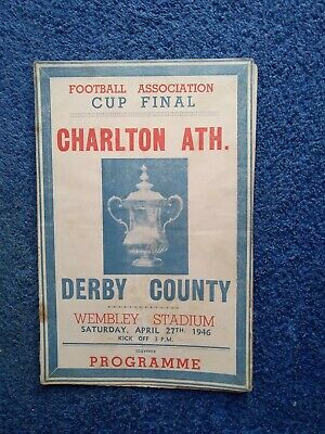 £39.99 • Buy 1946 Fa Cup Final Charlton Atletic V Derby County Programme Freepost