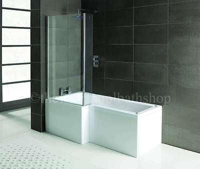 £619.49 • Buy 2021 LH Oceania 12 Jet L Shape Whirlpool Jacuzzi Shower Bath With Screen & Panel