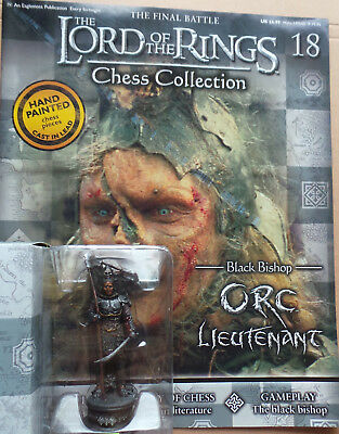 £10.75 • Buy LORD OF THE RINGS Chess Collection Set 1 #18: 'ORC LIEUTENANT', Eaglemoss, + Mag