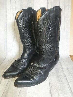 £37.99 • Buy Mens Sancho Cowboy Black Full Leather Boots Size 8 (42)