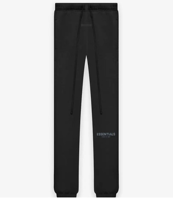 £125 • Buy Essentials Fear Of God Sweat Pants Stretch Limo | Black BRAND NEW Size M