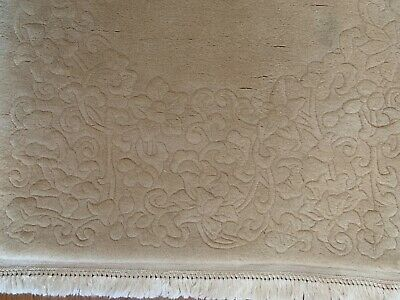 £25 • Buy Chinese Rectangular Rug Beige Colour Size 150cm X 70 Cm With Frills