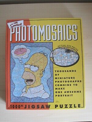£11.99 • Buy PREOWNED 1000 PIECE JIGSAW PUZZLE-THE SIMPSONS PHOTOMOSAICS 19 X27  - DIFFICULT