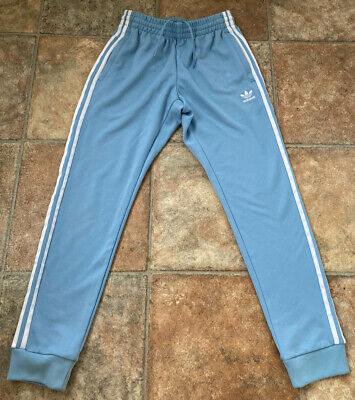 AU9.15 • Buy Adidas - Mens - Tracksuit Bottoms - Joggers - Blue - Cuffed - Teen - Small - New