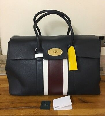£1199.99 • Buy MULBERRY Piccadilly Midnight, White & Burgundy Small Classic Grain Bag