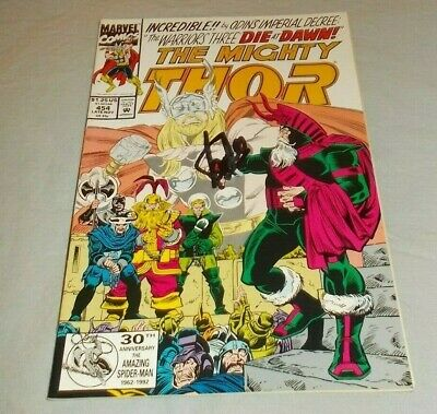 £14.52 • Buy The Mighty Thor # 454 Stan Lee Signed Comic 1992 Avengers