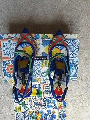 £51 • Buy Dolce And Gabbana Majolica Woven Sling Back Shoes Uk Size 6.5 Eur 39.5