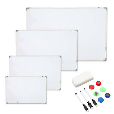 £9.95 • Buy White Magnetic Whiteboard Dry Erase Drawing/Notice/Teaching Boards Office School